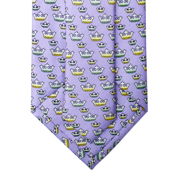 Mardi Gras Crown Extra Long Tie