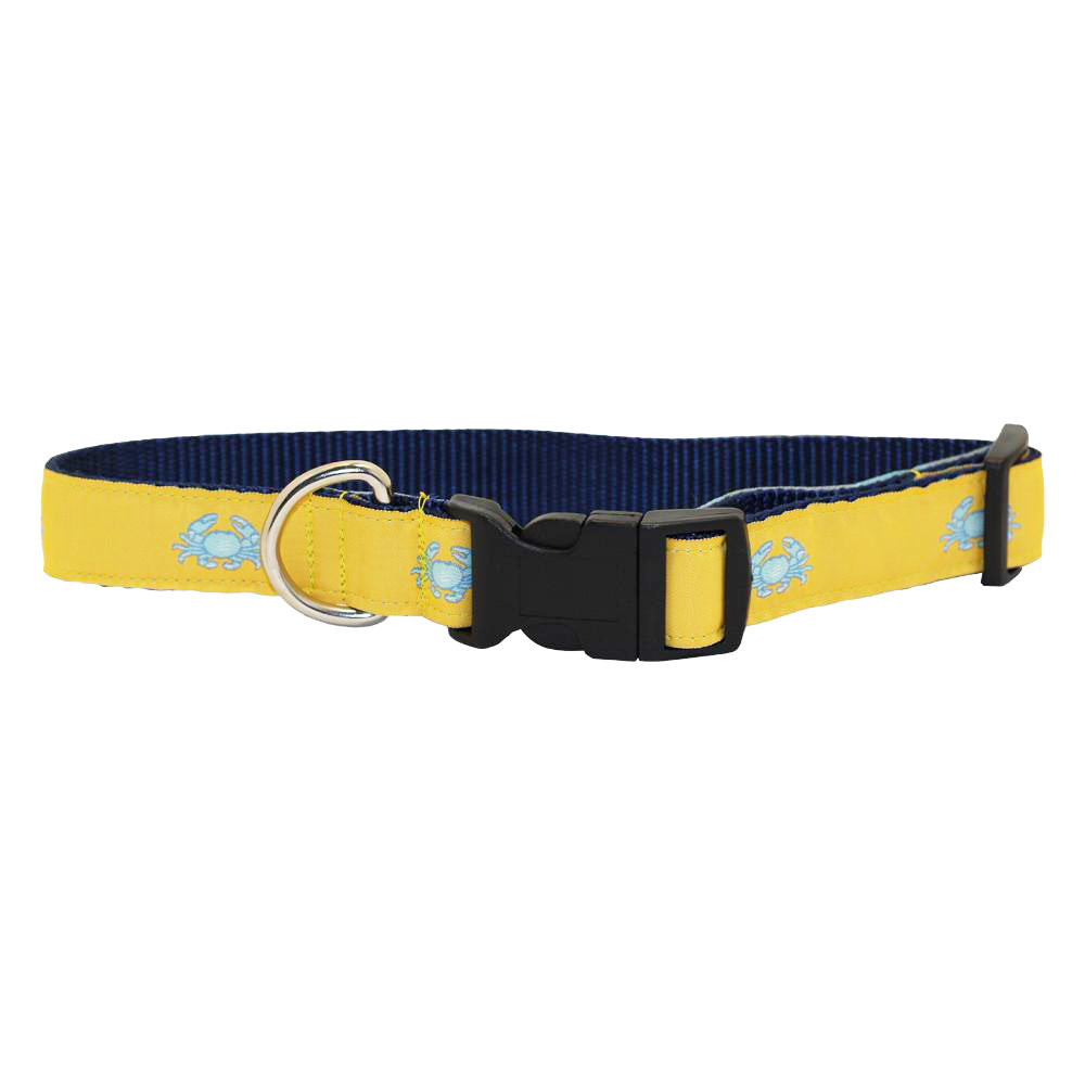 Sunshine Yellow Boiled Crab Dog Collar