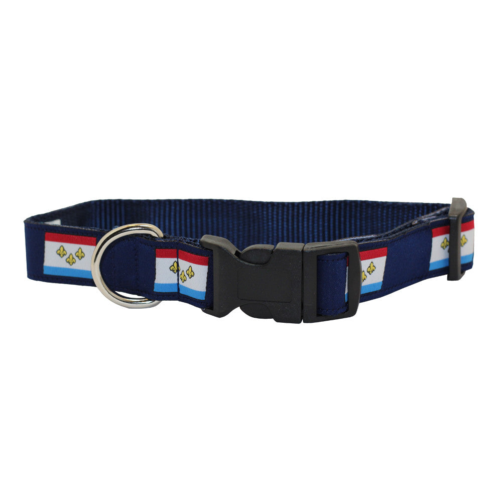 New Orleans Flag Dog Collar