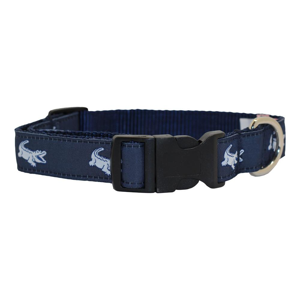 NOLA Navy NOLAgator Dog Collar