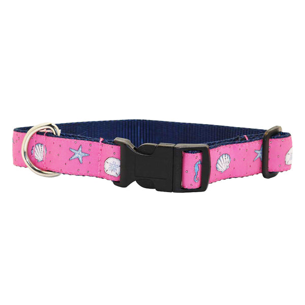 Panama Pink Sea Critter Dog Collar