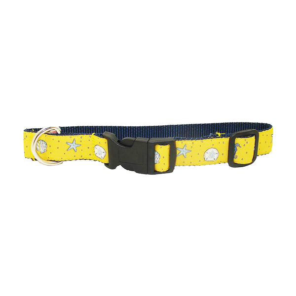 Sunshine Yellow Sea Critter Dog Collar