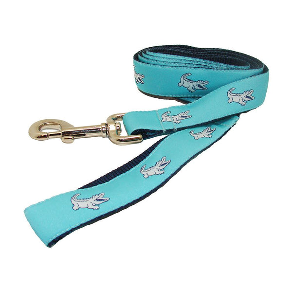 Caribbean Blue NOLAgator Dog Leash