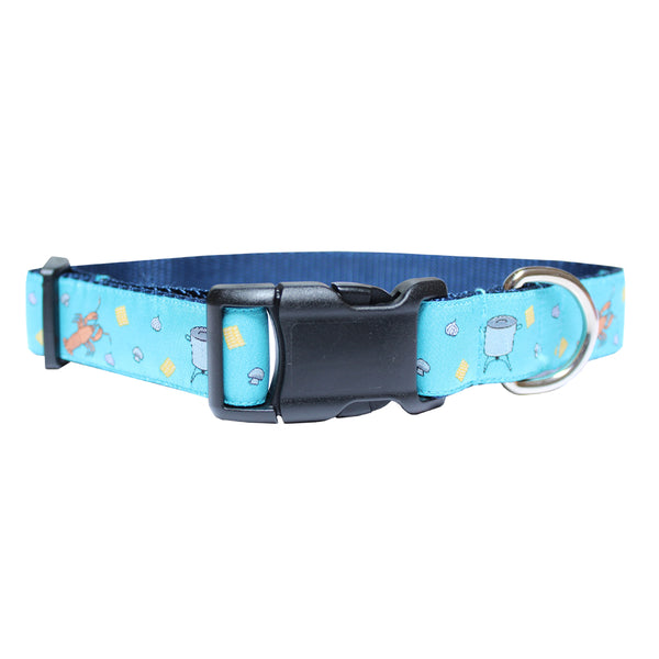 Caribbean Blue Crawfish Boil Dog Collar