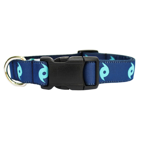 Midnight Navy Ward Off the Hurricane Dog Collar