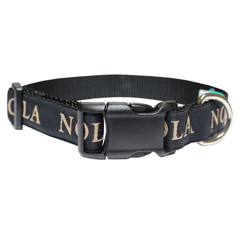 Black NOLA Dog Collar