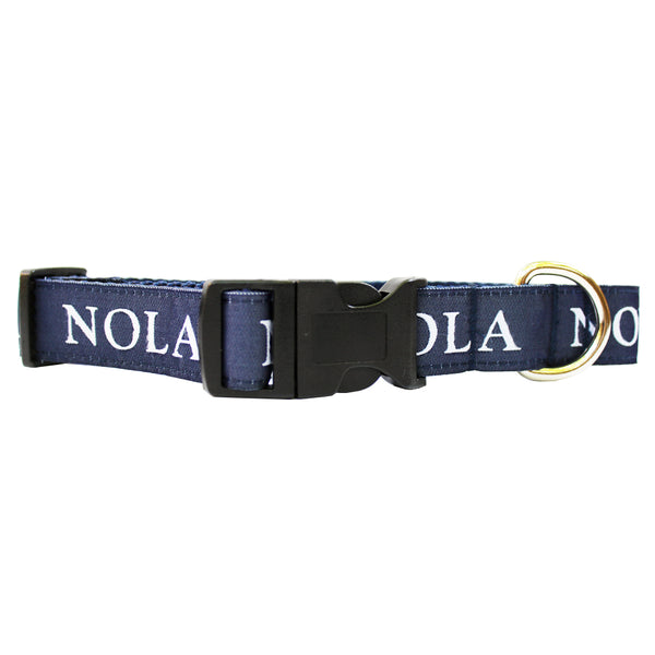 NOLA Navy NOLA Dog Collar
