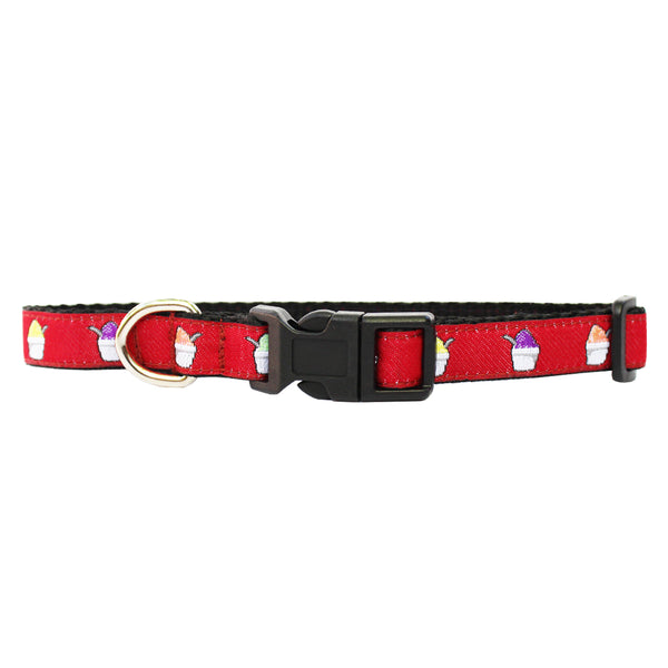 Cayenne Red Extra Small Snoball Dog Collar