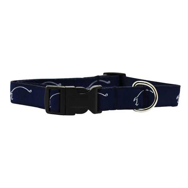 Midnight Navy Hogs for the Cause Dog Collar