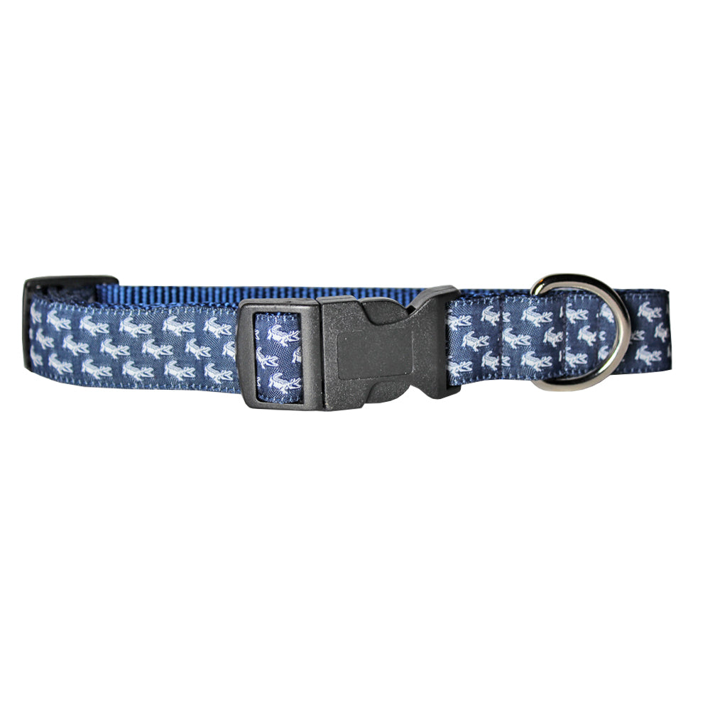 NOLA Navy Mini NOLAgator Dog Collar