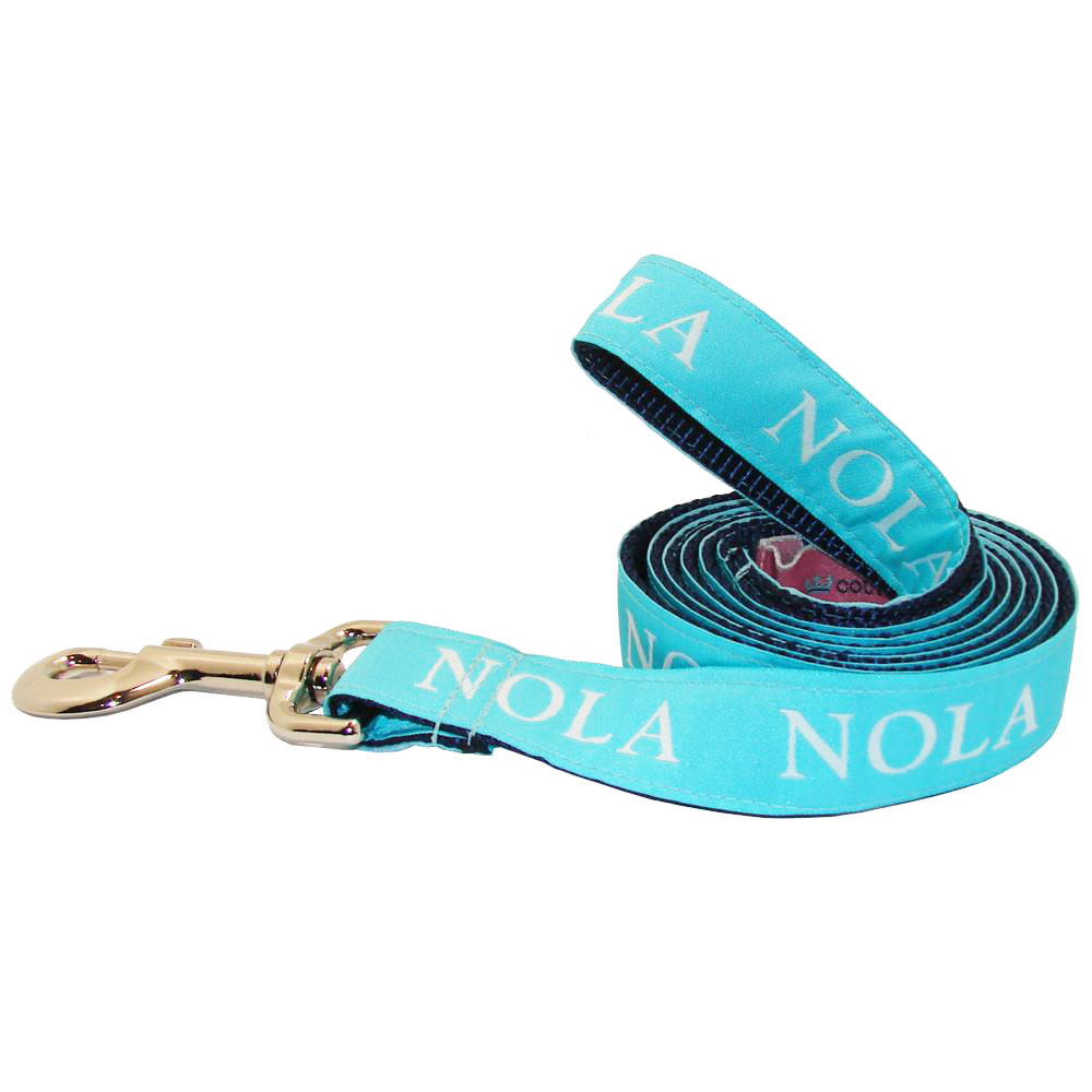 Caribbean Blue NOLA Dog Leash