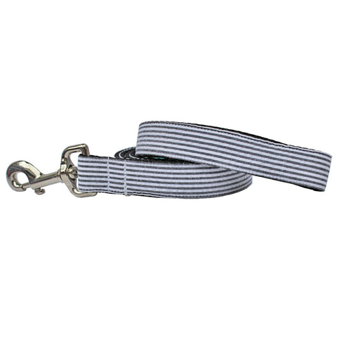 Black Seersucker Dog Leash