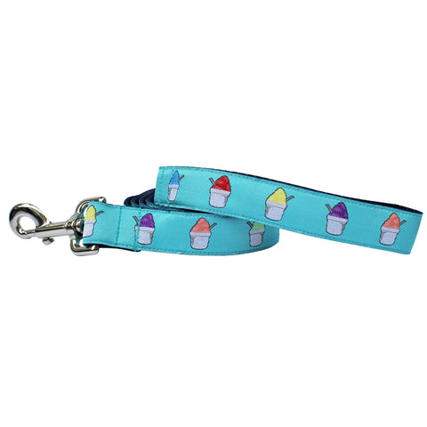 Caribbean Blue Snoball Dog Leash
