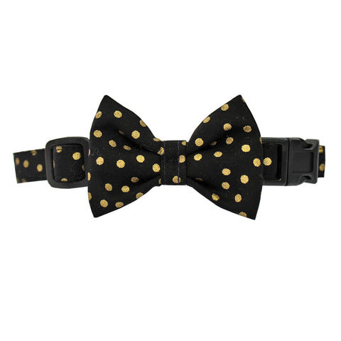 Extra Small Polka Dots Dog Bow Collar