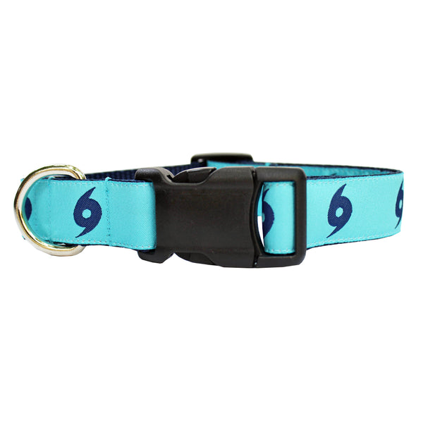 Caribbean Blue Ward Off the Hurricane Dog Collar