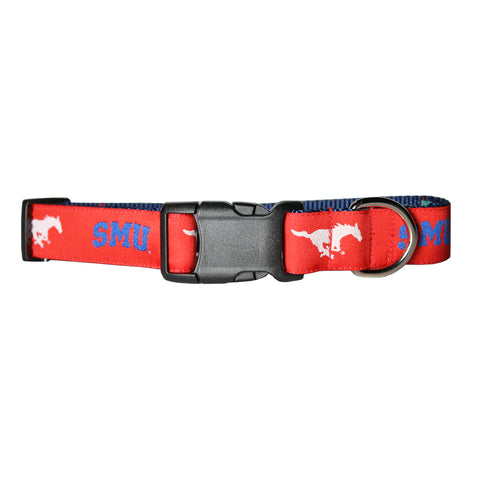 SMU Mustangs Dog Collar