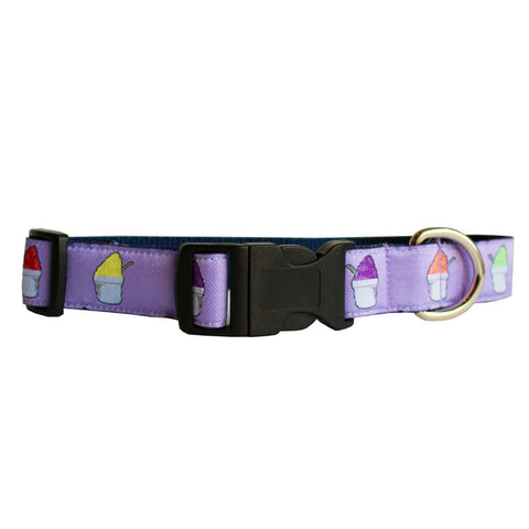 Ash Wednesday Lavender Snoball Dog Collar