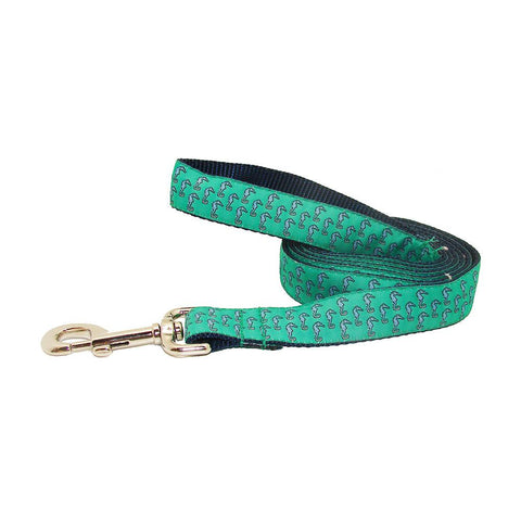 Audubon Green Seahorse Dog Leash