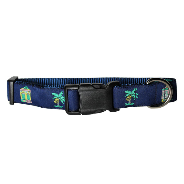 Midnight Navy Shotgun Houses Dog Collar