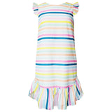 Rainbow Stripe Drop Hem Dress