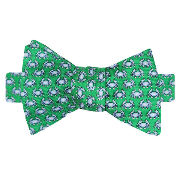 Audubon Green Boiled Crab Bow Tie