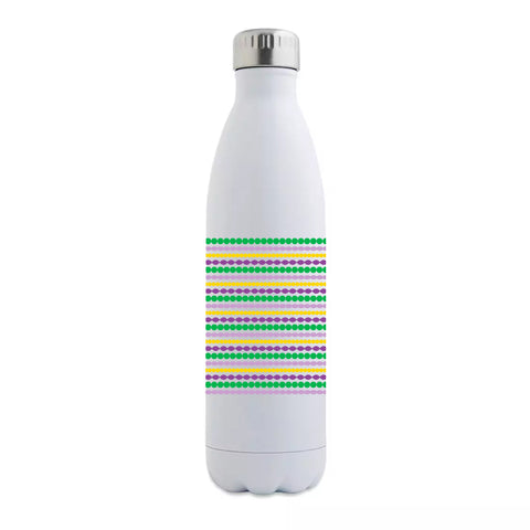 Mardi Gras Beads Insulated Bottle