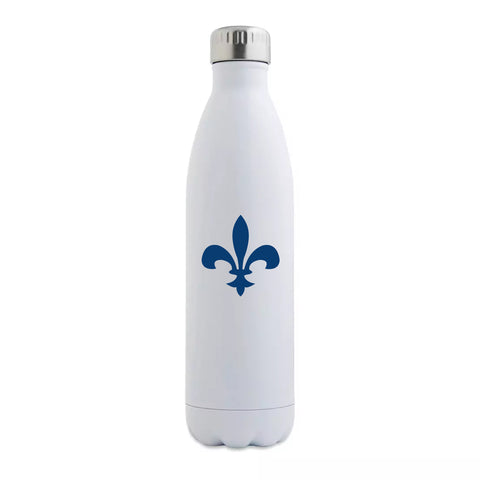 Navy Fleur de Lis Insulated Bottle