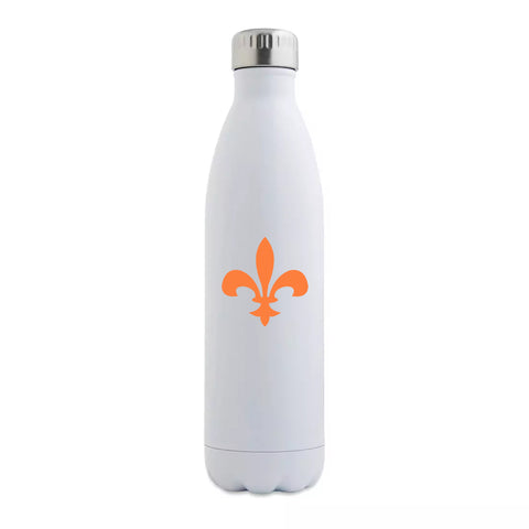 Orange Fleur de Lis Insulated Bottle