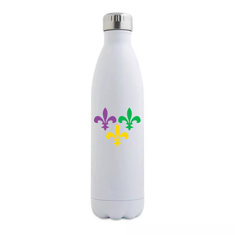 Multi Fleur de Lis Insulated Bottle