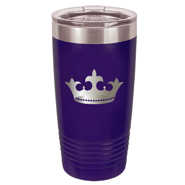 Stainless Steel Crown Coffee Tumbler