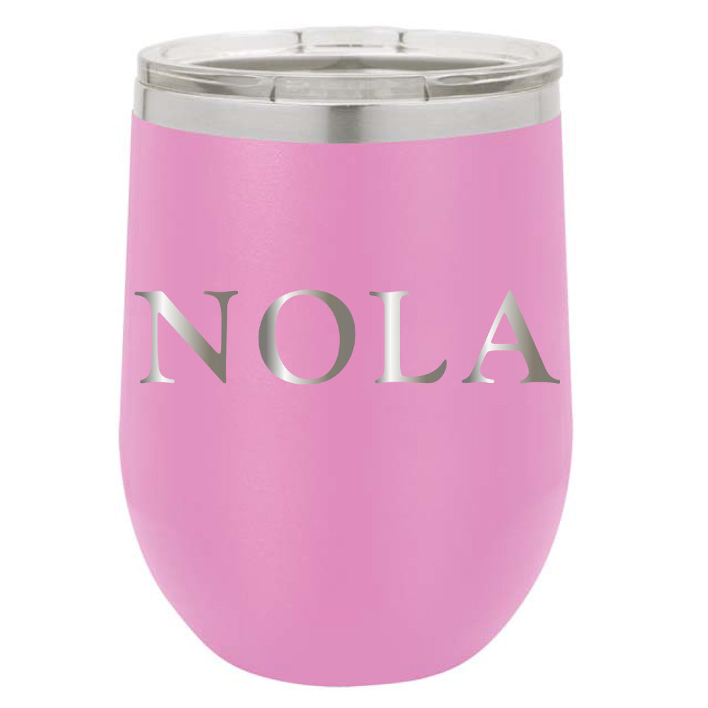 Stainless Steel NOLA Stemless Wine Glass