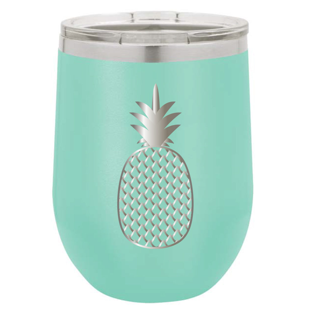 Stainless Steel Pineapple Stemless Wine Glass