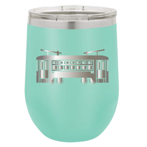 Stainless Steel Streetcar Stemless Wine Glass