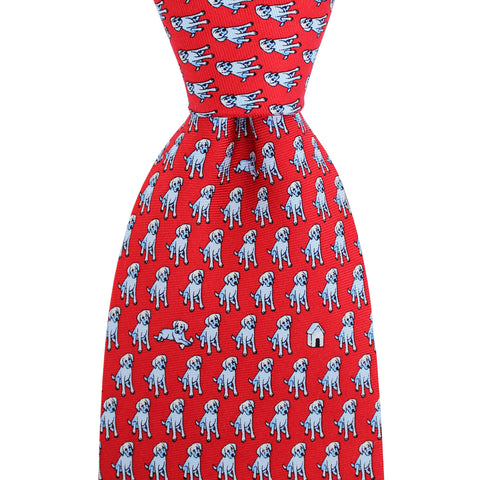 Cayenne Red In The Dog House Extra Long Tie