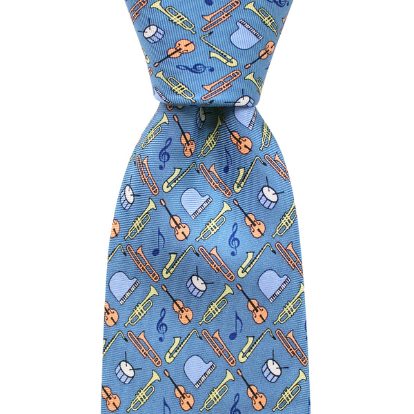 NOLA Navy Boys' Jazz Instruments Tie