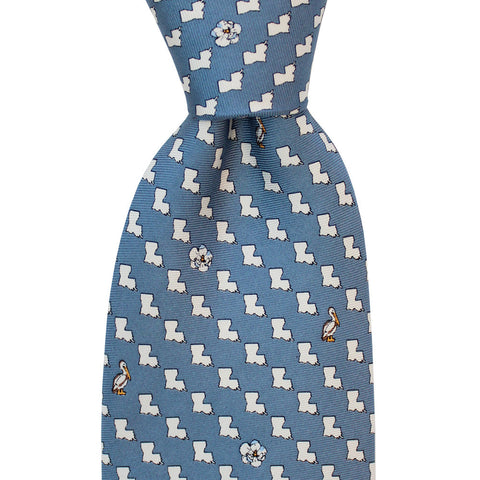 NOLA Navy Louisiana Extra Long Tie