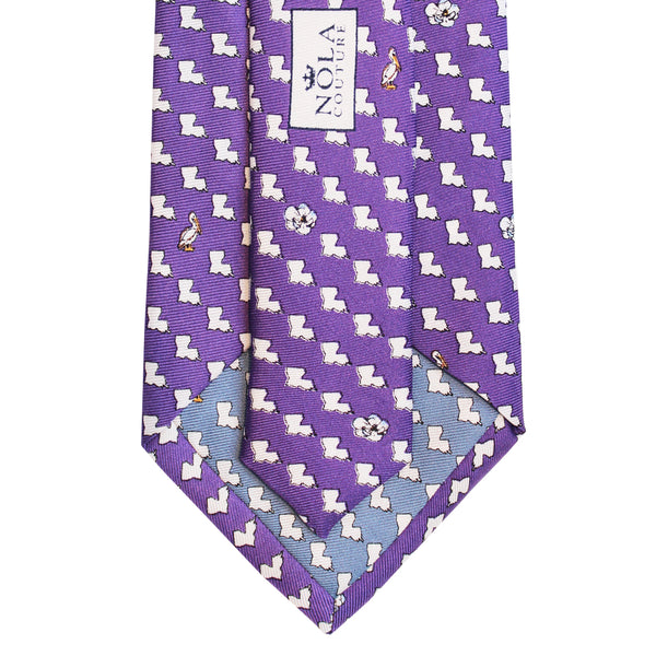 Regal Purple Louisiana Extra Long Tie