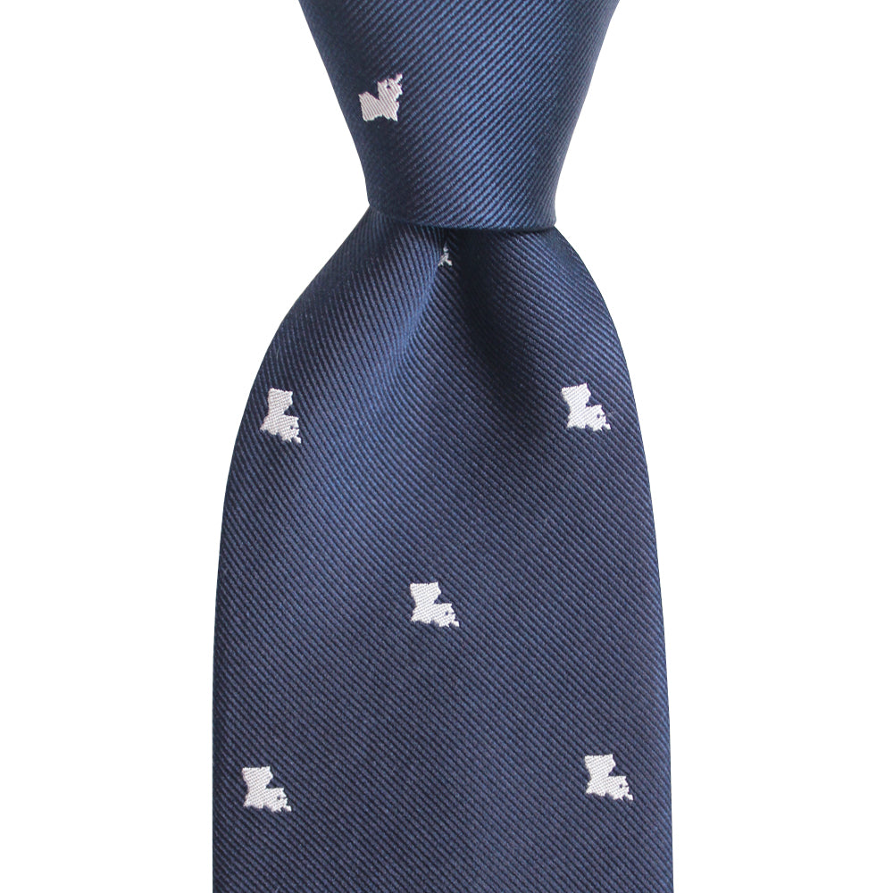 Louisiana Extra Long Woven Silk Tie