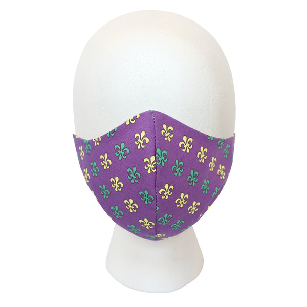 Regal Purple Multi Fleur de Lis Civilian Mask