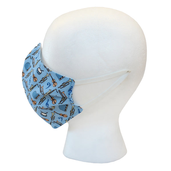 Gulf Blue Jazz Instruments Civilian Mask