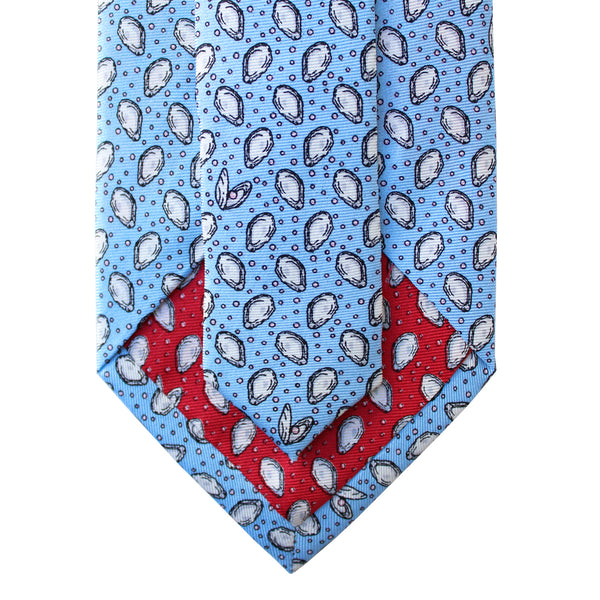 Gulf Blue Mini Gulf Oyster Extra Long Tie
