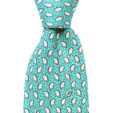 Sea Breeze Blue Mini Gulf Oyster Extra Long Tie
