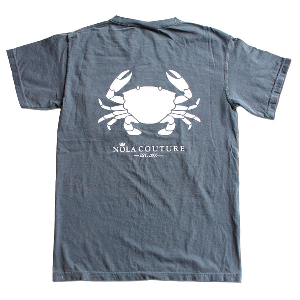 Denim Boiled Crab Short Sleeve Pocket Tee