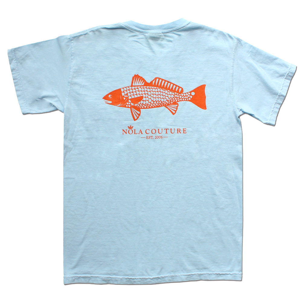 Gulf Redfish Short Sleeve Pocket Tee