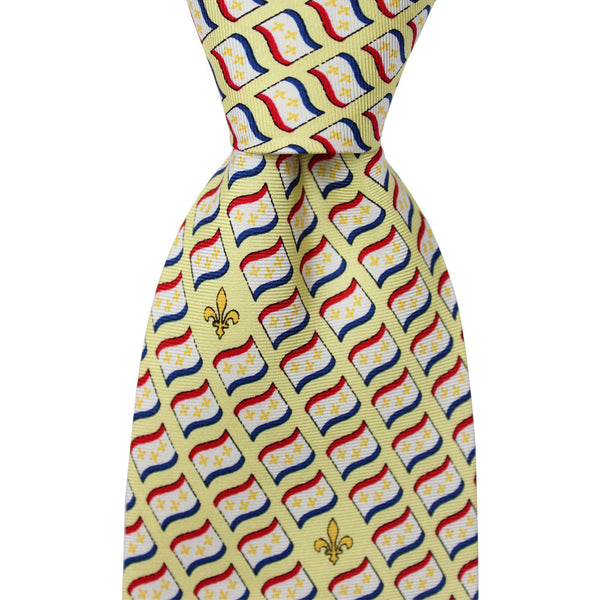 New Orleans Flag Tie