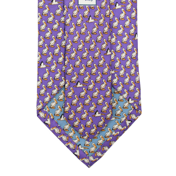 Regal Purple Pelican Tie