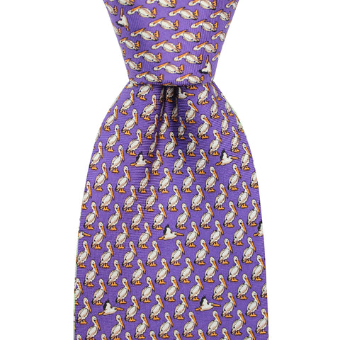 Regal Purple Pelican Extra Long Tie