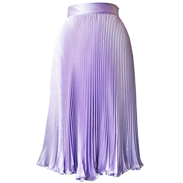 Lilac Pleated Skirt