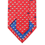 SMU Red Mustangs Tie