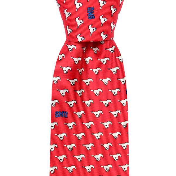 SMU Red Mustangs Skinny Tie